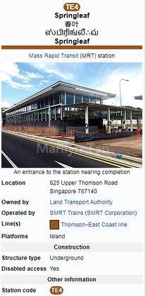 Springleaf MRT Station Platform