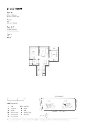Type B1-2 Bedroom 592 Sqft
