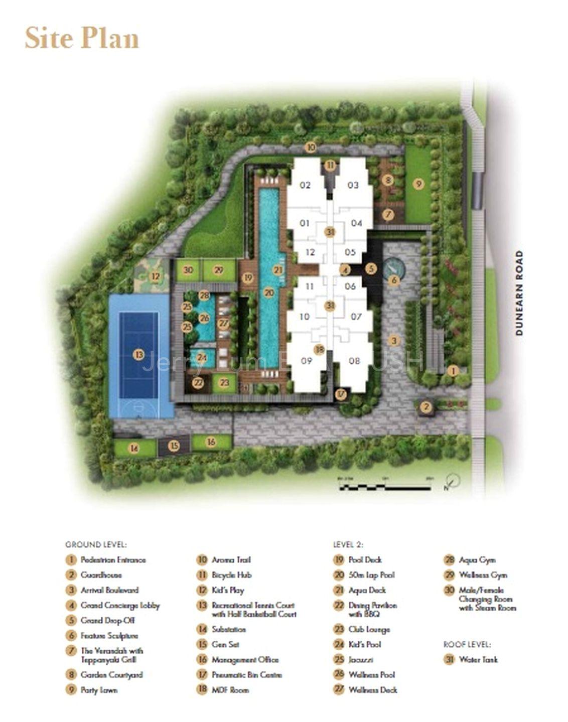 Site Plan + Amenities