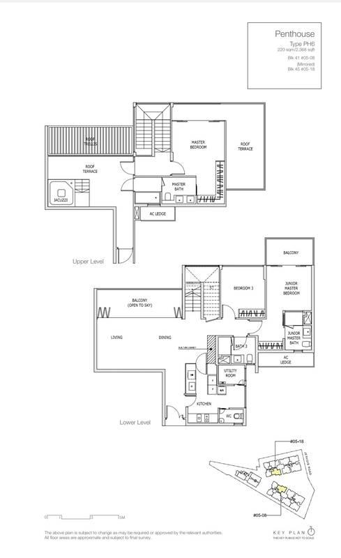 3 Bedroom Penthouse 2,368 Sqft