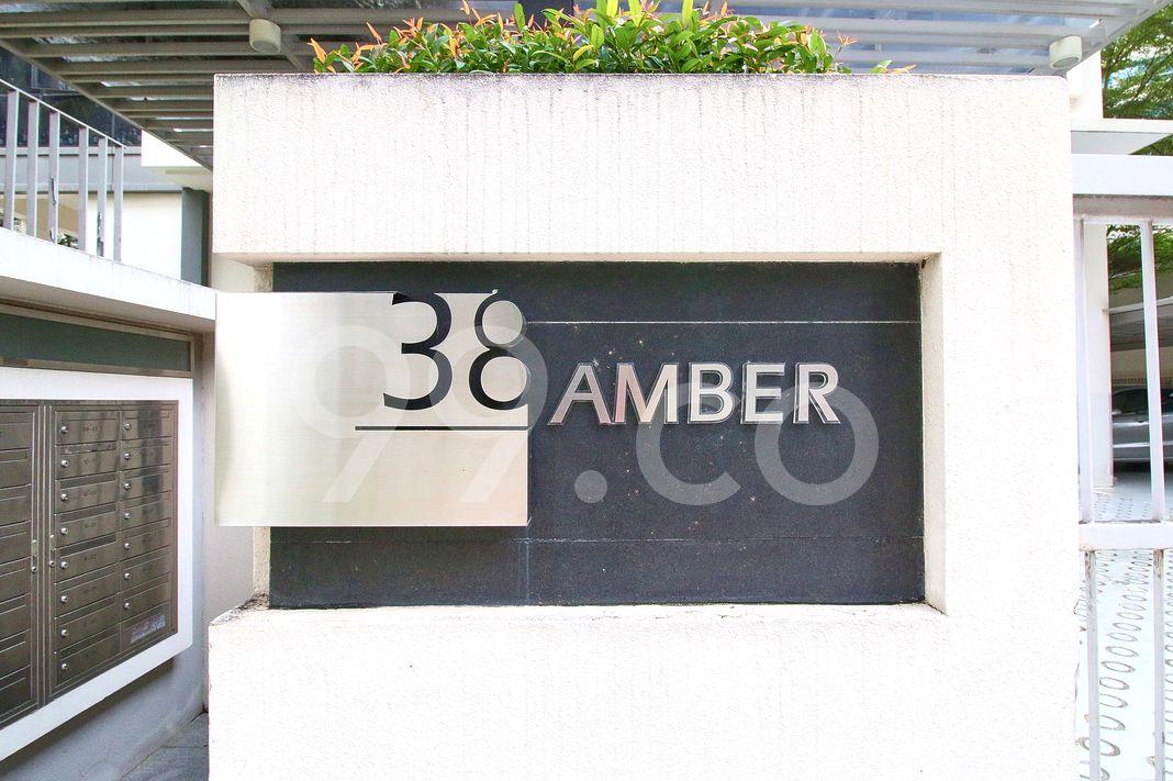 38 Amber  Logo