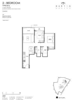 Type B1a-2 Bedroom 764 Sqft
