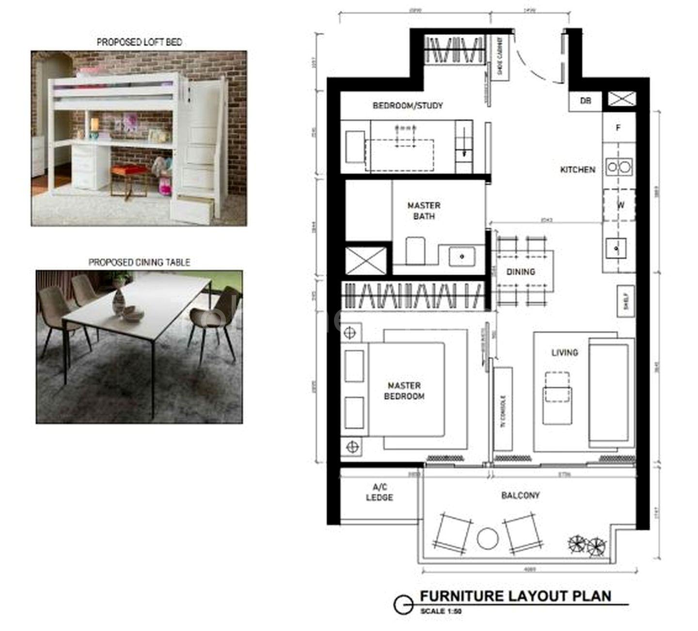 ID Idea 1 - remove LIVCLO to create a 2nd bedroom