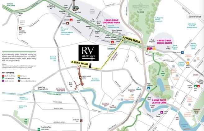 RV Altitude luxury freehold condo - location map