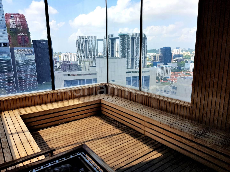 Panoramic sauna room