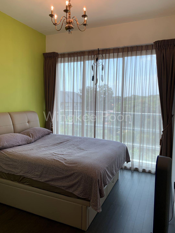 Master Bedroom with Small Balcony Area