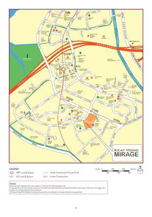 Keat Hong Mirage Location Map