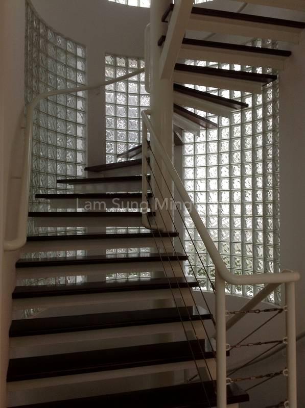 Quaint spiral staircase
