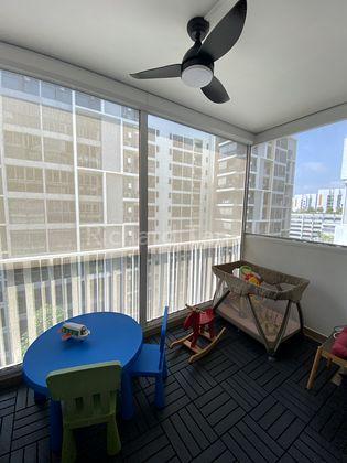 Good size Balcony with motorised Ziptrak Blind