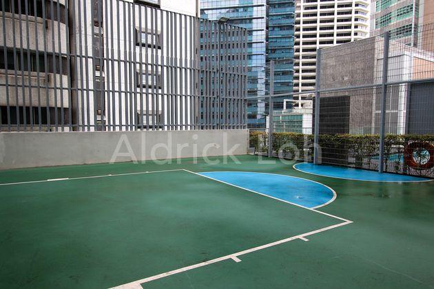 Half Basket Ball Court