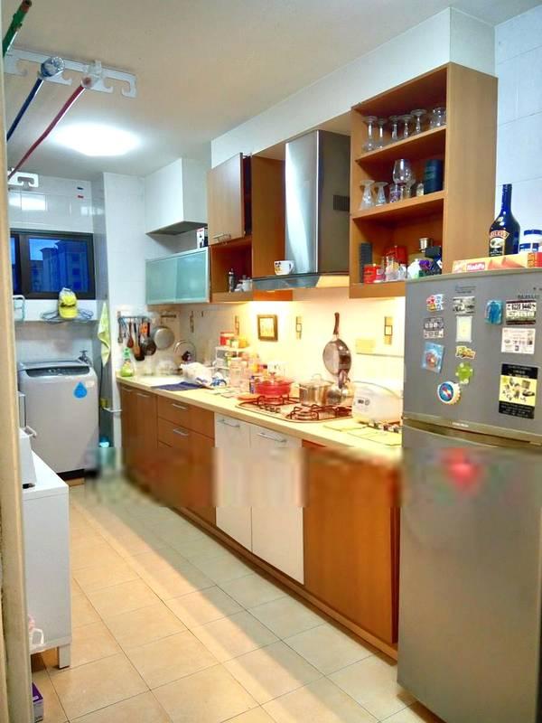 Fridge & Kitchen Light cooking area.