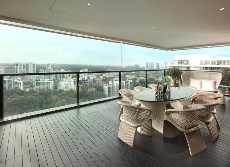 Enjoy tranquility at your balcony at Reignwood Hamilton Scotts