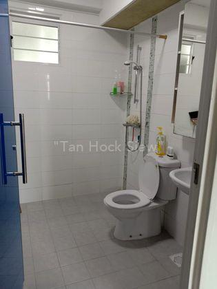 Bright & clean common toilet