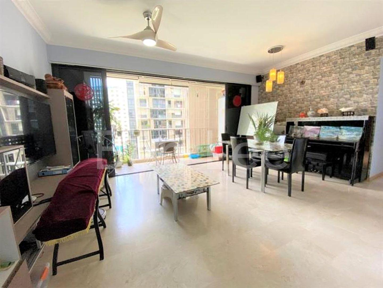 Marble floor living hall