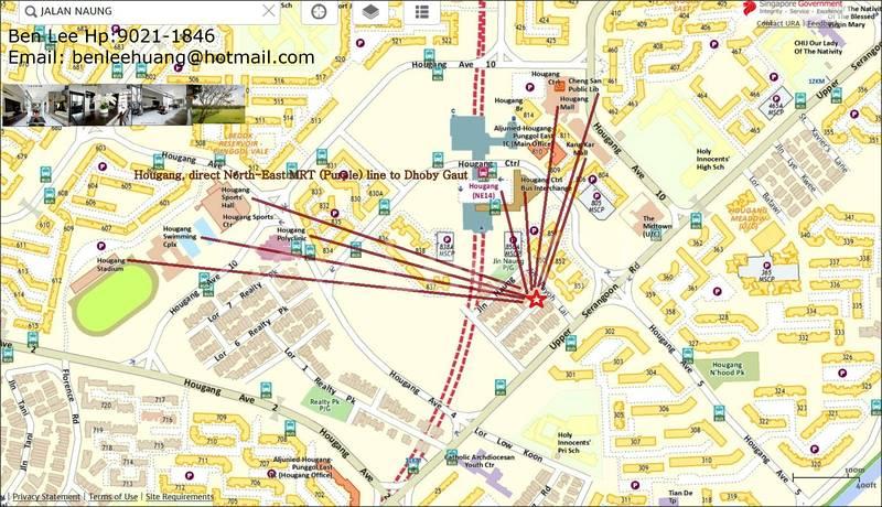 Hougang Mall shopping, Hougang MRT, Bus Interchange within 5 min walk