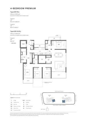 Type D3P (PL)-4 Bedroom Premium 1,808 Sqft