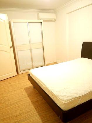 1st Bedrm good quality Queen bed with Sliding door Wardrobe.