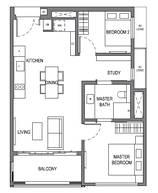 2 Bedrooms Type B14