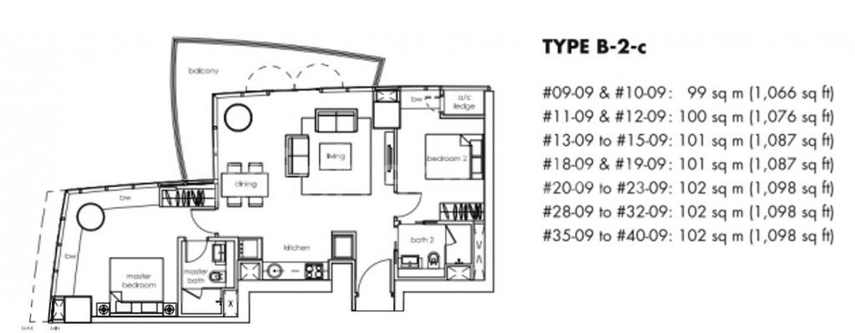 One Shenton #2x-09 Floor Plan