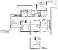 3 Bedrooms Type 3C1b