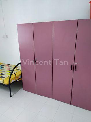 wardrobe inside room.