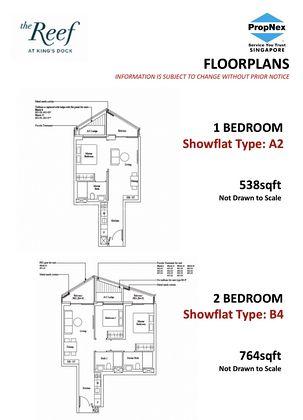 Type A2 - 1 Bedroom 538 Sqft