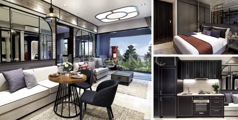 Living Area & Master Bedroom