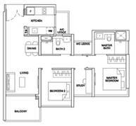 3 Bedrooms Type 2BRS1
