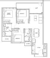 3 Bedrooms Type C1aPES