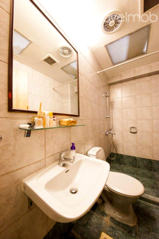 Bath on left side of kitchen