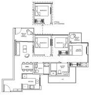 3 Bedrooms Type 3C1aG