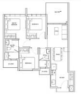 3 Bedrooms Type C1ah