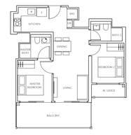 2 Bedrooms Type B3
