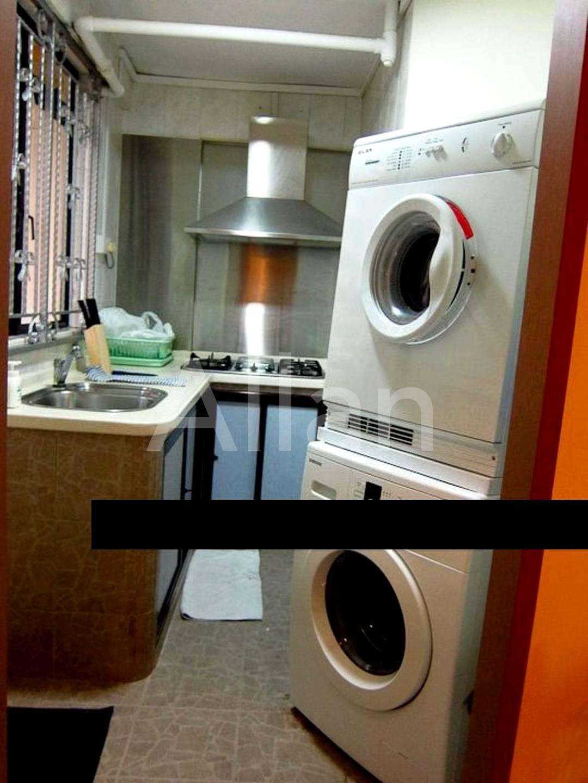 Functional kitchen at living quarter