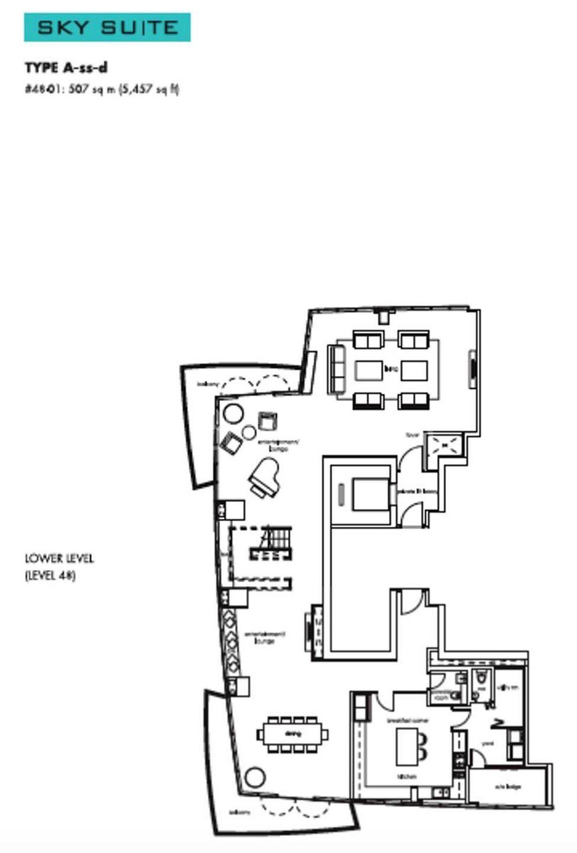 One Shenton Duplex PH #48-01 Floor Plan