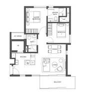 2 Bedrooms Type B1b
