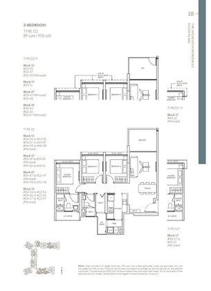Type D2-P 3 Bedroom 958 Sqft