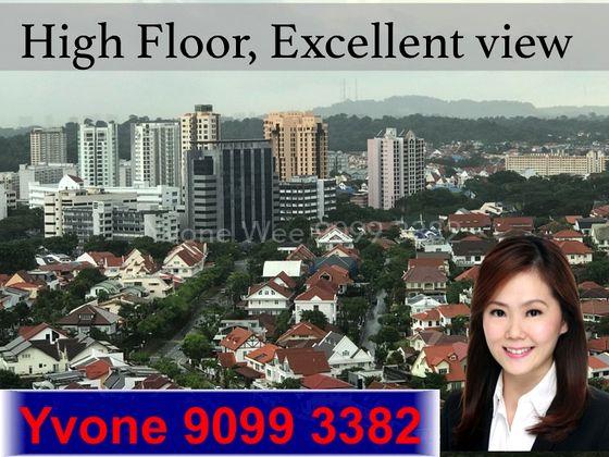 High floor, city view
