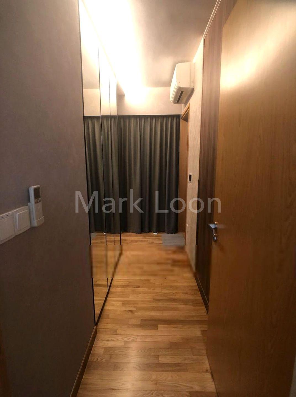 walk-in wardrobe of master bedroom