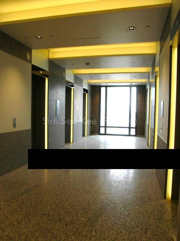 Lift lobby linked to hospital