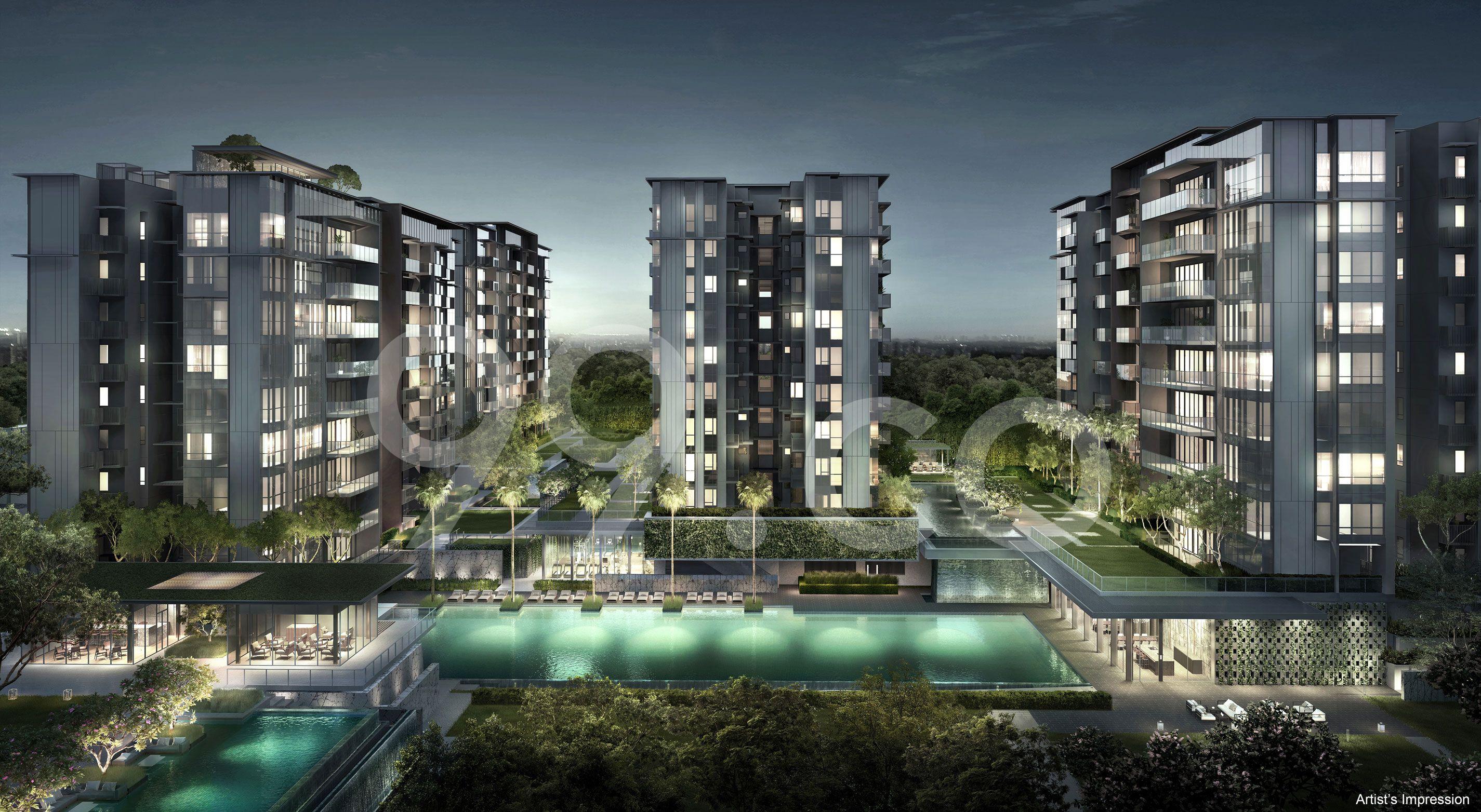 Forett @ Bukit Timah Facade - Night View