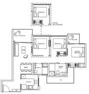 3 Bedrooms Type 3C1c