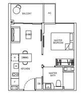 1 Bedroom Type 1B1