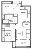 1 Bedroom Type A4b