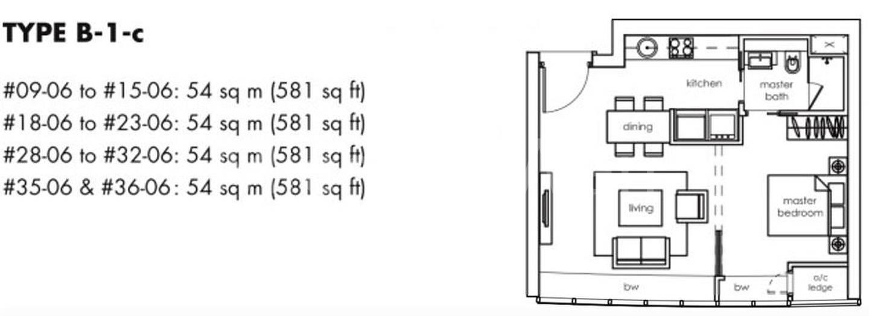 One Shenton #2x-06 Floor Plan