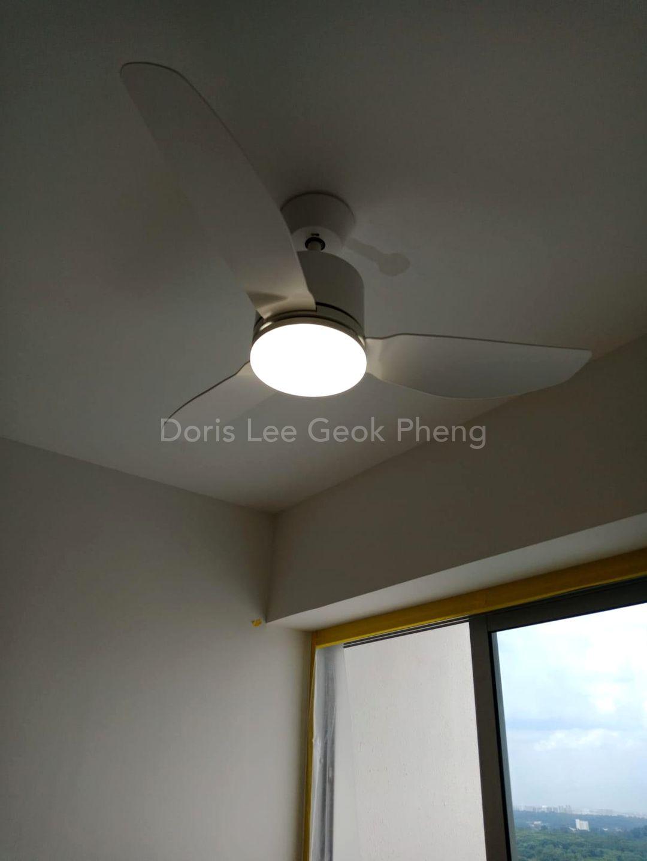 Ceiling fan in living room
