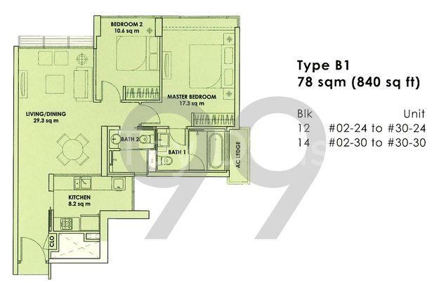 City Square Residences - Configuration B1