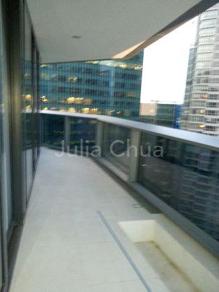 Balcony area access thru living room.