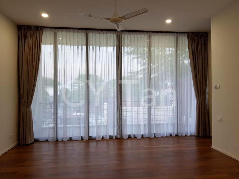 Huge master bedroom with nice greenery view