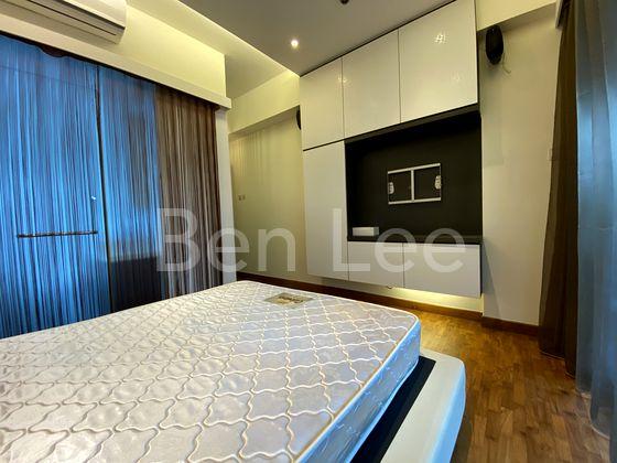 Master bedroom TV storage shelve